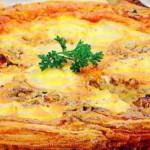 Bulvių ir sūrio pyragas