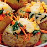 Bulvės su vištiena ir sūriu